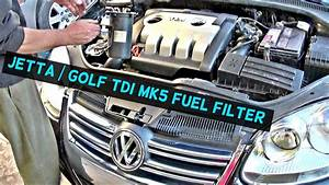 Vw Jetta Tdi Mk5 Diesel Fuel Filter Replacement Vw Golf Tdi