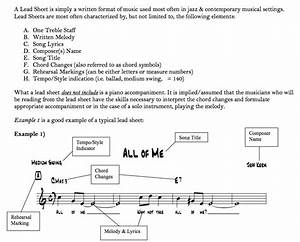 Play Piano  U2013 How To Interpret A  U201clead Sheet  U201d