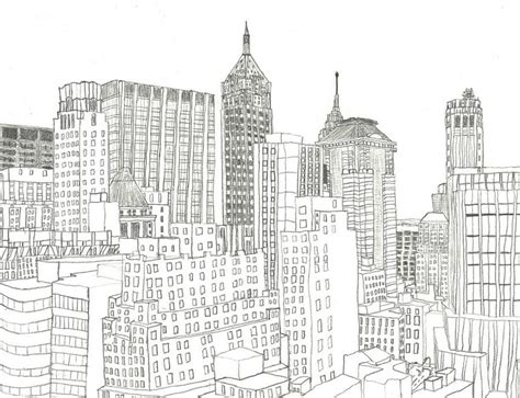 coloriage anti stress  york quartier des affaires