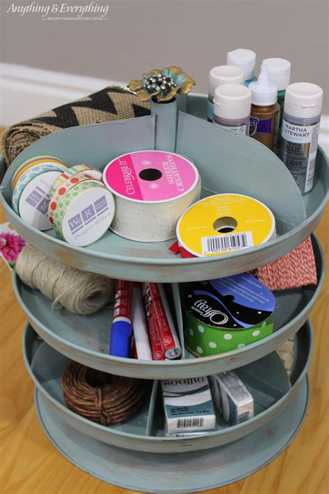 painted rotating organizer monthly diy challenge