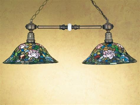 Pool, Billiard Game Table Island Pendant Stained Glass