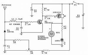 Rf Detector Circuit Design Using 2n2222 Transistors