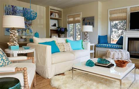 Awesome Brown And Turquoise Living Room Ideas Photos