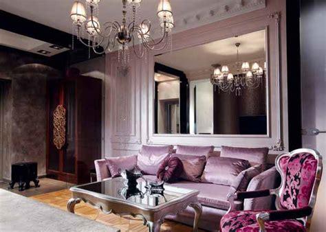 silver black  lavender color combination chic interior