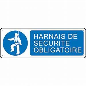 Harnais De Securite Pour Elagage : panneau harnais de s curit obligatoire stocksignes ~ Edinachiropracticcenter.com Idées de Décoration