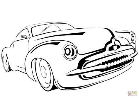 Old Car Line Drawing Sketch Coloring Page
