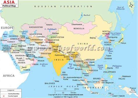 asia political map depicting international boundaries