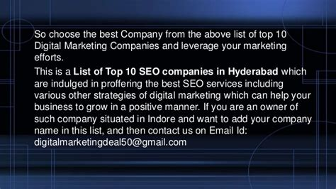digital marketing in hyderabad top 10 digital marketing companies in hyderabad