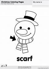 Scarf Coloring Snowman Simple Super Songs Printables Supersimple sketch template
