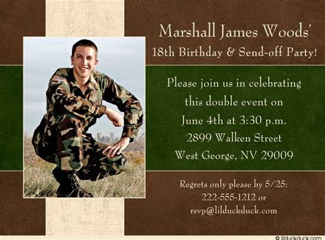 birthday party invitations military  birthdays