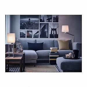 Sofa Und Co : nockeby 3er sofa tallmyra mit r camiere links tallmyra verchromt wei schwarz verchromt ~ Orissabook.com Haus und Dekorationen