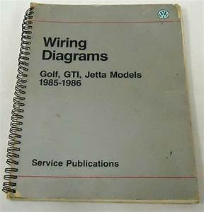 Purchase Vw Service Manual Wiring Diagrams Golf  Gti  Jetta 1985