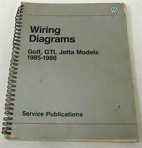 1991 Vw Golf Gti Jetta Service Information Wiring Diagram Shop Manual Factory 91