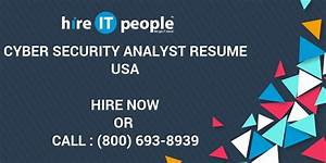 Marketing Resumes Cyber Security Analyst Resume Hire It People We Get It