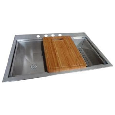 glacier bay all in one kitchen sink deals glacier bay all in one dual mount stainless steel 9224