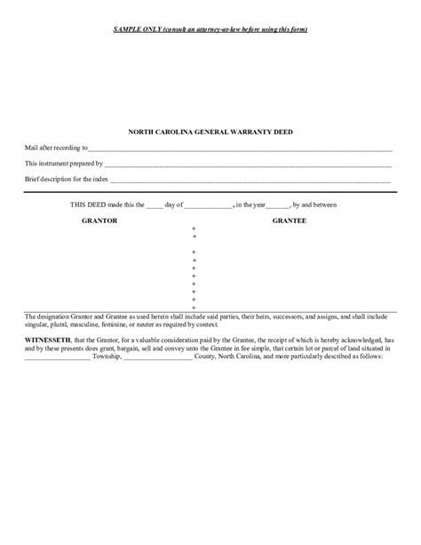 20953 warranty deed form template general warranty deed template carolina free
