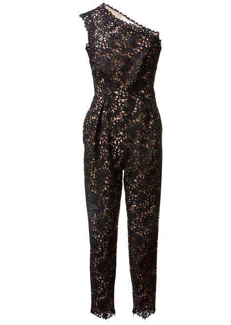 lace jumpsuit stella mccartney black macramé lace jumpsuit in black lyst