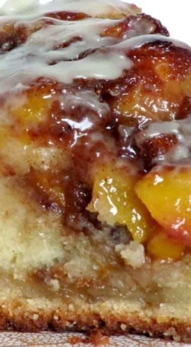 Vanilla Peach Coffee Cake Cakes Sweets Pinterest