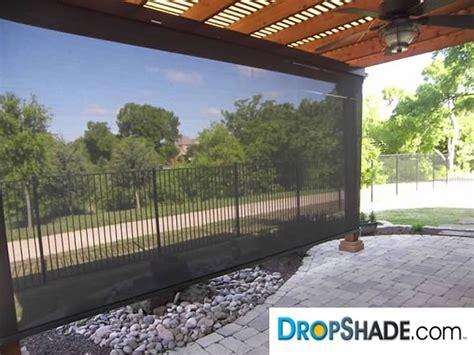 patio drop shades exterior motorized retractable shades