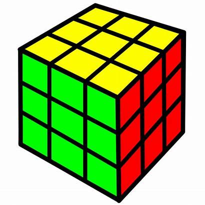 Cube Rubik Clipart Objects Square Clip Rubiks