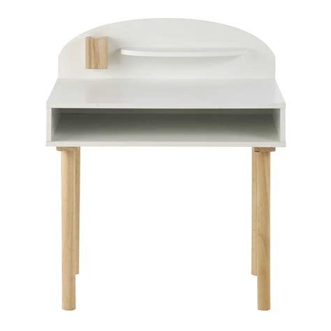chaise de bureau blanche design bureau enfant en bois blanc l 70 cm nuage maisons du monde