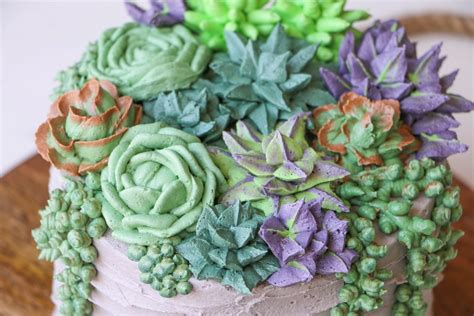 Succulent Cake Buttercream Piping Tutorial | Craftsy
