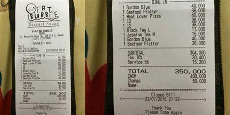 Harga Aborsi Jakarta Timur Makan Di Fat Bubble Kasir Seenaknya Bulatkan Bill Jadi Rp