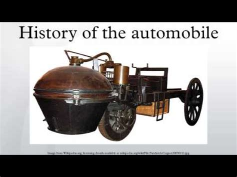 History Of The Automobile Youtube