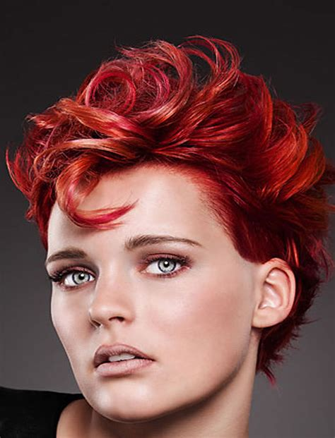 red hair color  short hairstyles  cool haircut