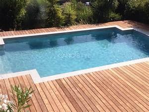 margelle de piscine en pierre naturelle grise de barcelone With pierre naturelle pour piscine