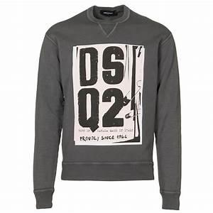 Dsquared sweatshirts block letter sweatshirt in dark for Block letter sweatshirts