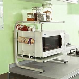 Etagere Micro Onde : trendy meuble rangement cuisine micro onde meuble ~ Melissatoandfro.com Idées de Décoration