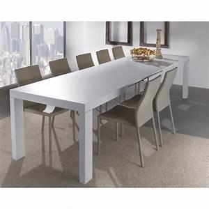 Tavolo moderno Aladin in legno bianco allungabile per cucina