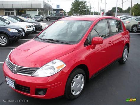 red nissan versa 2008 red alert nissan versa 1 8 s hatchback 15915783