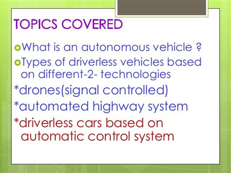 Autonomous And Electric Vehicles