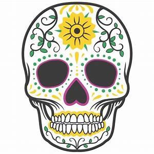 Tete De Mort Fleur : sticker t te de mort color fleur stickers t te de mort stickers muraux ~ Mglfilm.com Idées de Décoration
