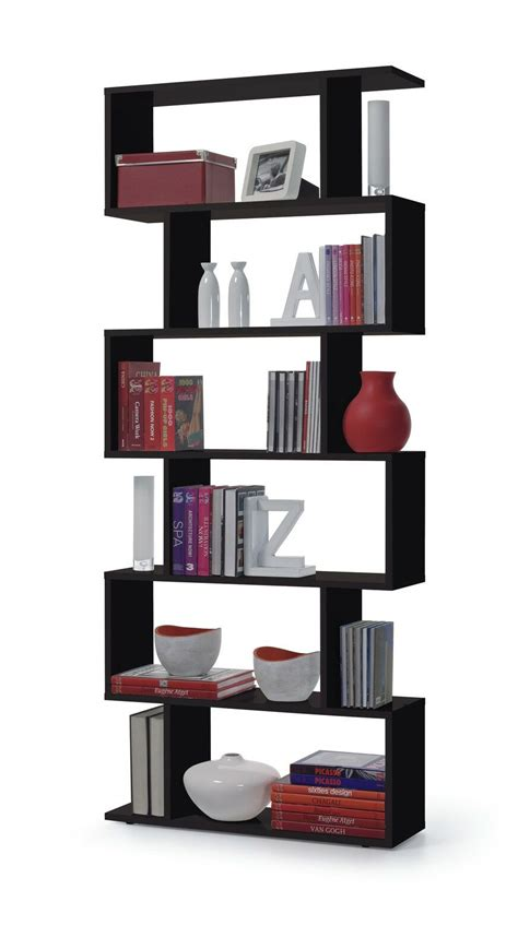White And Black Bookcase by Gloss Black White Brown Room Divider Bookcase Lounge