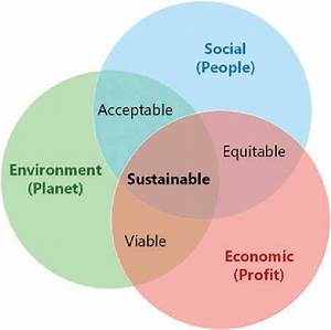 The three pillars of sustainability. Source: Based on ...