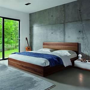 But Lit 160x200 : lit noyer design 160x200 brin d 39 ouest ~ Teatrodelosmanantiales.com Idées de Décoration