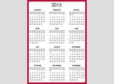 2015 Printable Calendar 1 Page Loving Printable