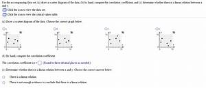For The Accompanying Data Set Draw A Scatter Diagr