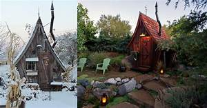 Tiny reclaimed wood cabins that appear plucked from the for Tiny dr seuss cabins