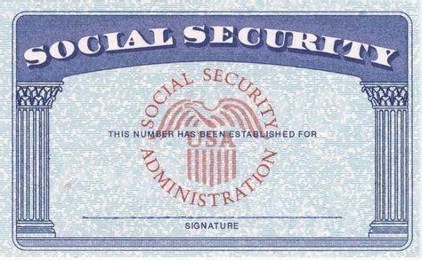 blank social security card template  psdssn