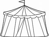 Tent Circus Coloring Pages Clip Unique Printable Getcolorings Getdrawings Print Paper Clipart sketch template