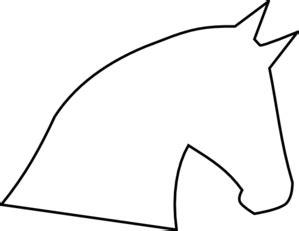 horse head outline clip art  clkercom vector clip art