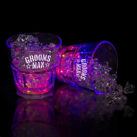 light up rocks promotional 8 oz light up rocks glass customized 8 oz
