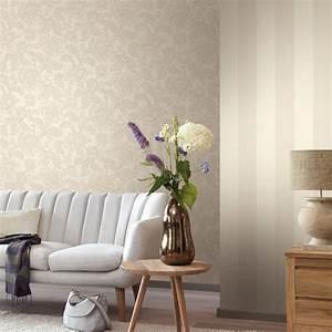 Tapeten Muster Wände : wohnzimmer tapeten mit eleganten ornamenten amira von rasch textil ewering blog ~ Markanthonyermac.com Haus und Dekorationen