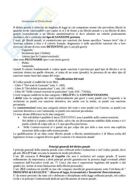 Dispensa Diritto Penale by Parte Generale Appunti Di Diritto Penale Ii
