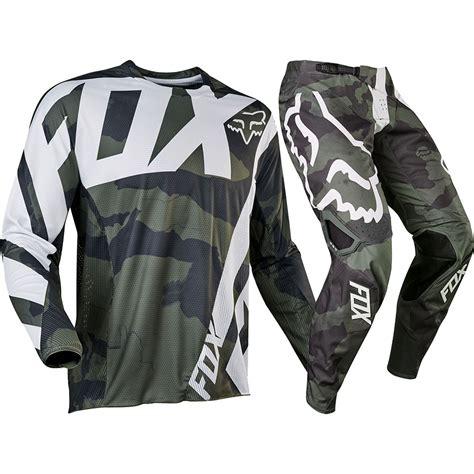 fox motocross gear sets fox racing 2017 mx new 360 creo camo grey green jersey