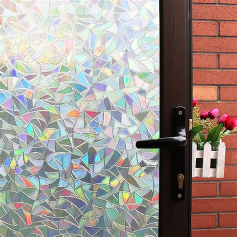 Decorative Window Stained Glass - 3d decorative window clear stained glass rainbow